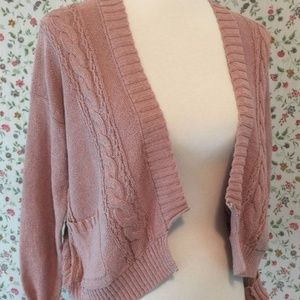 Anthro Guinevere Short & Stitchy Sweater S Cables